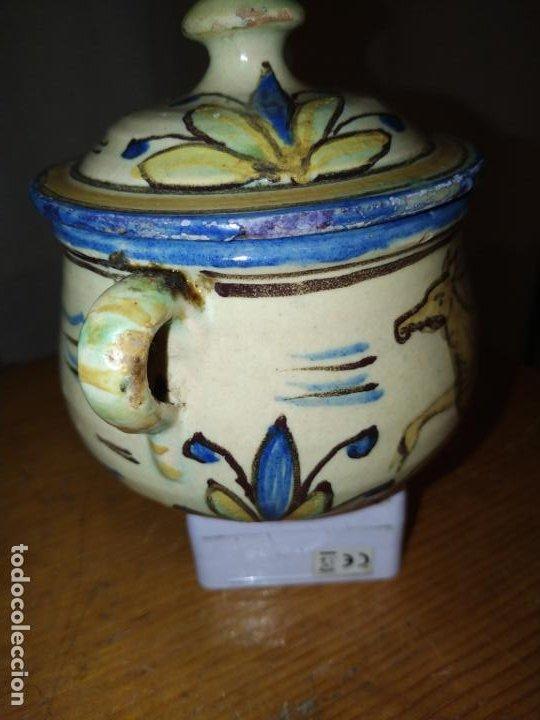 Antigüedades: Azucarero cerámica antiguo Puente Arzobispo ( Toledo) - Foto 2 - 188841525