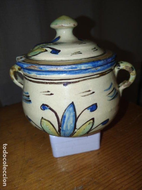 Antigüedades: Azucarero cerámica antiguo Puente Arzobispo ( Toledo) - Foto 3 - 188841525