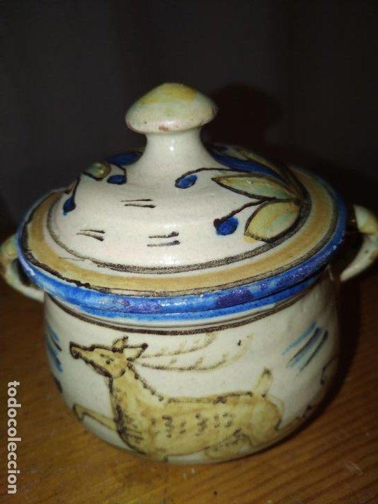 Antigüedades: Azucarero cerámica antiguo Puente Arzobispo ( Toledo) - Foto 4 - 188841525