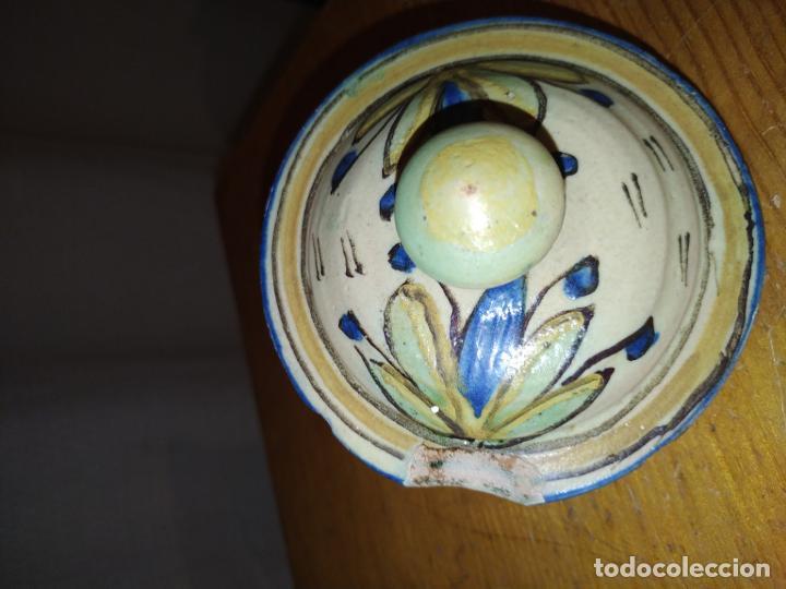Antigüedades: Azucarero cerámica antiguo Puente Arzobispo ( Toledo) - Foto 6 - 188841525