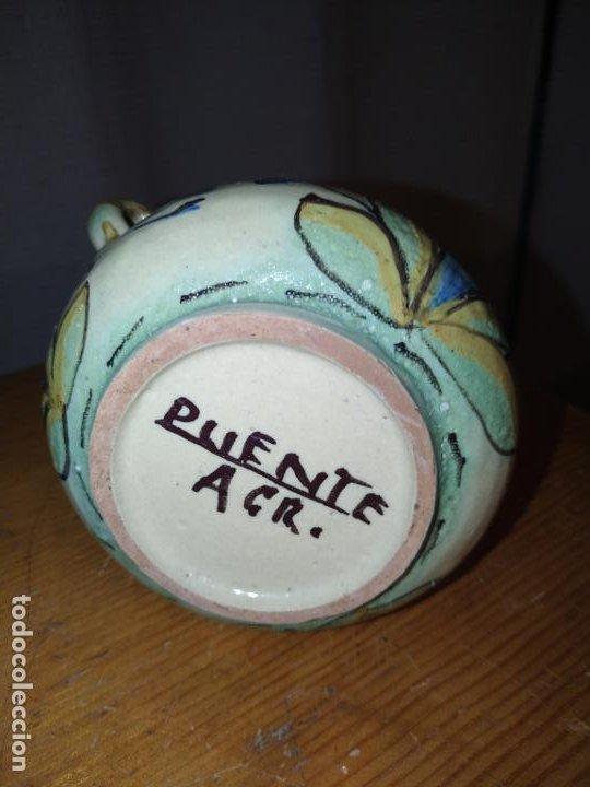 Antigüedades: Azucarero cerámica antiguo Puente Arzobispo ( Toledo) - Foto 7 - 188841525
