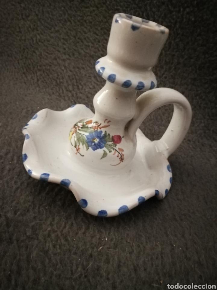 Antigüedades: Portavelas ceramica de lorca lario lamparilla - Foto 2 - 189076346