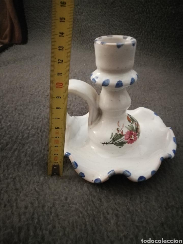 Antigüedades: Portavelas ceramica de lorca lario lamparilla - Foto 4 - 189076346