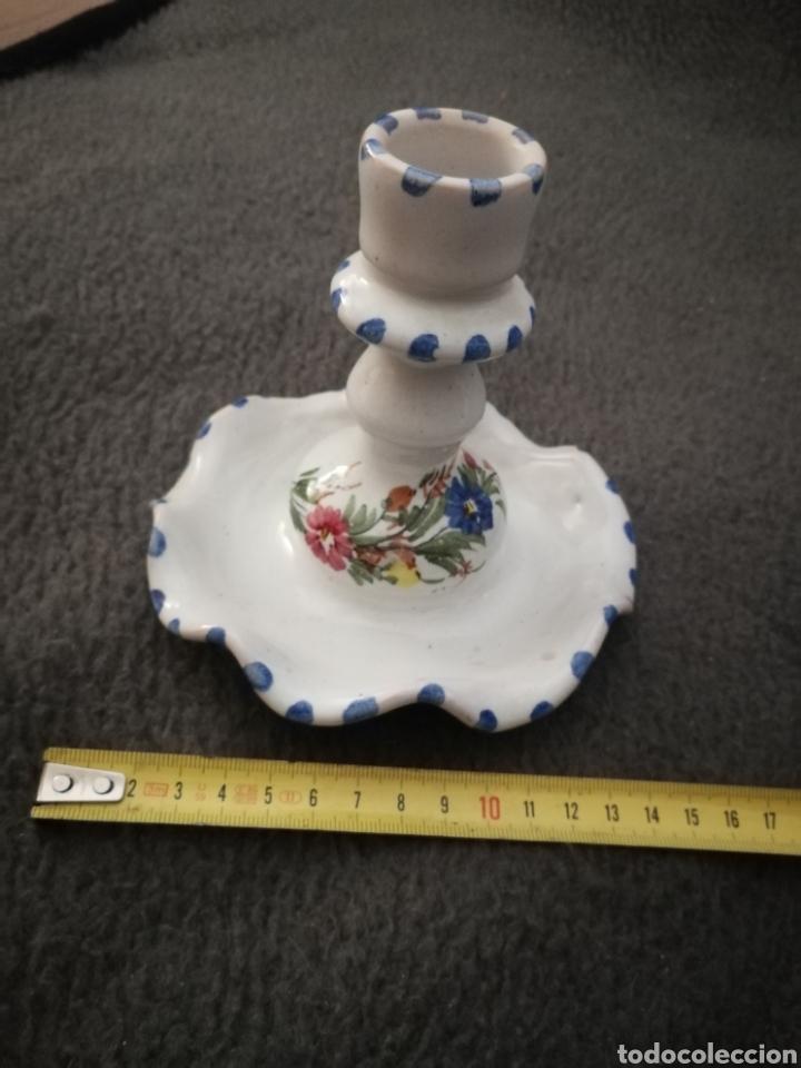 Antigüedades: Portavelas ceramica de lorca lario lamparilla - Foto 5 - 189076346