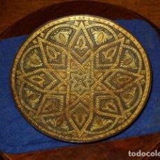 Antigüedades: DEJALLAVES O CENICERO DAMASQUINADO,TOLEDO.. Lote 189077897
