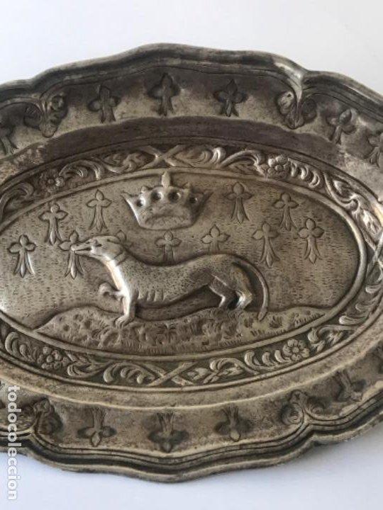 Antigüedades: ANTIGUA BANDEJA O CENTRO VACIA BOLSILLOS DE LA CASA VALENTI. - Foto 2 - 189081360