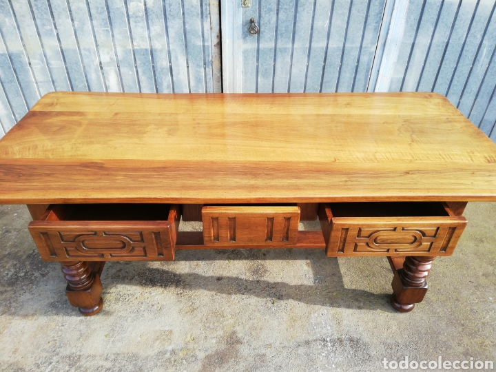 Antigüedades: Mesa nogal restaurada - Foto 3 - 189086315