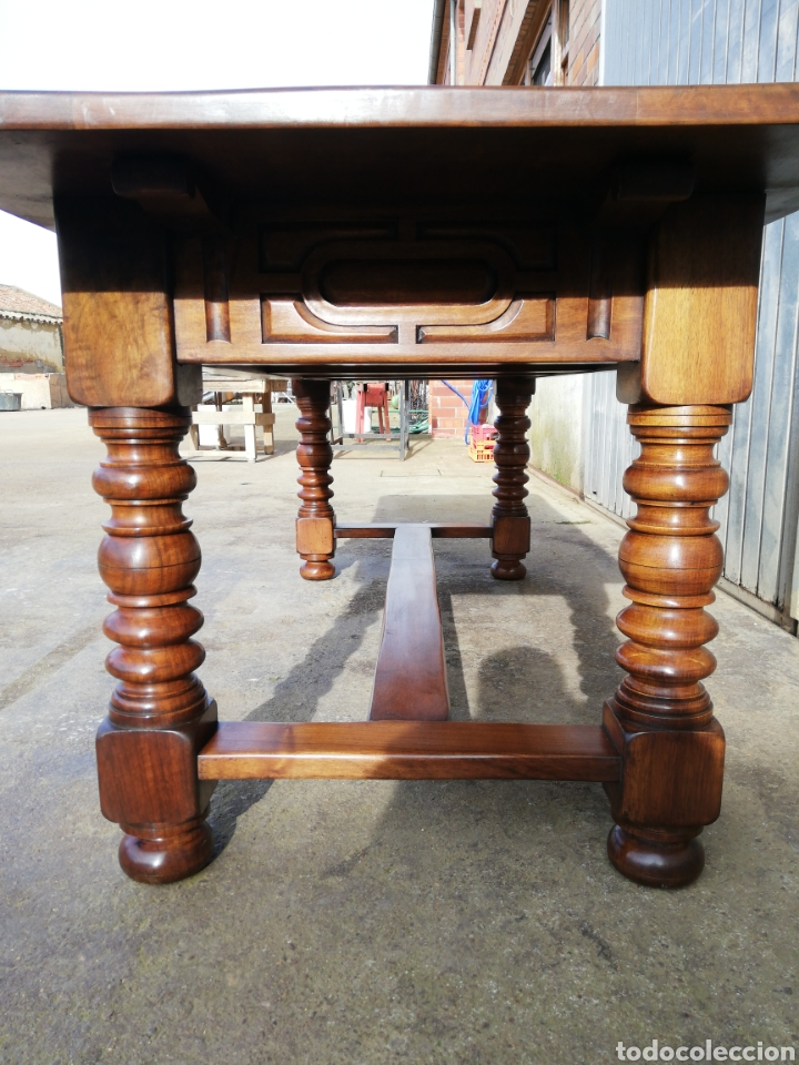 Antigüedades: Mesa nogal restaurada - Foto 7 - 189086315