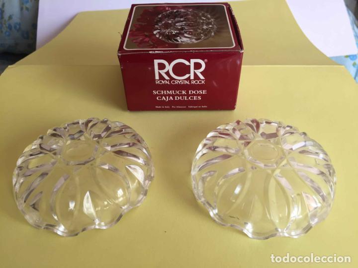 Antigüedades: Bombonera RCR (Italia) Cristal tallado al plomo 24% ¡Original! Nueva ¡Coleccionista! - Foto 2 - 189093676