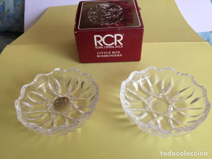 Antigüedades: Bombonera RCR (Italia) Cristal tallado al plomo 24% ¡Original! Nueva ¡Coleccionista! - Foto 4 - 189093676