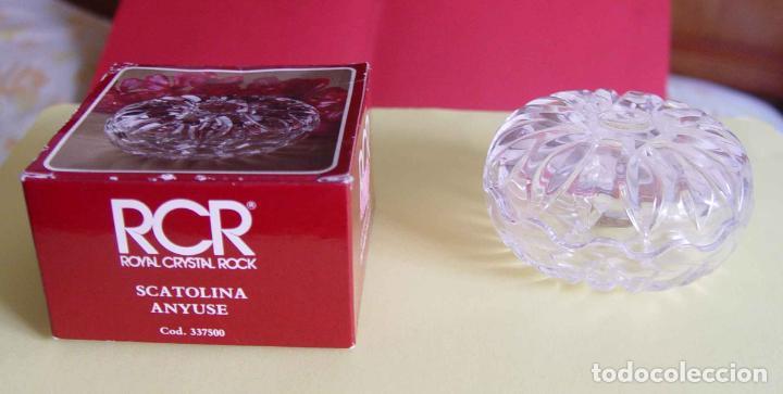 Antigüedades: Bombonera RCR (Italia) Cristal tallado al plomo 24% ¡Original! Nueva ¡Coleccionista! - Foto 7 - 189093676