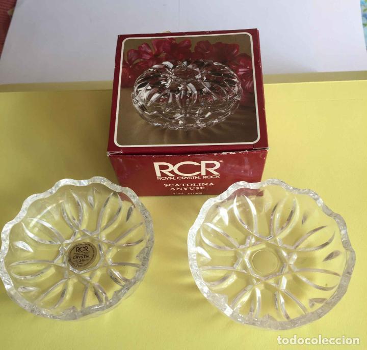 Antigüedades: Bombonera RCR (Italia) Cristal tallado al plomo 24% ¡Original! Nueva ¡Coleccionista! - Foto 8 - 189093676