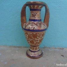Antigüedades: JARRA CERAMICA MANISES CON REFLEJO FIRMADA GIMENO RIOS. Lote 189096852