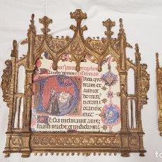 Antigüedades: SACRAS DE BRONCE NEOGOTICAS. Lote 189108163