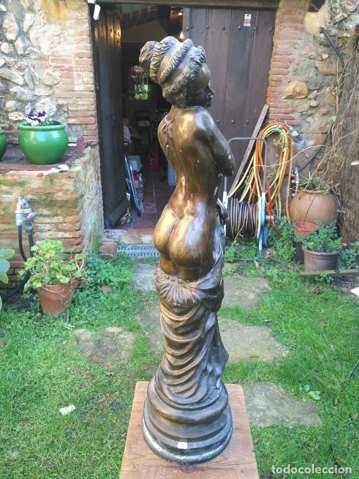 Antigüedades: Figura/ escultura de mujer semidesnuda de bronce. - Foto 3 - 189143047