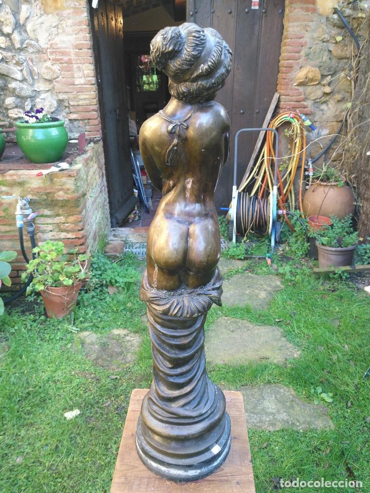 Antigüedades: Figura/ escultura de mujer semidesnuda de bronce. - Foto 4 - 189143047
