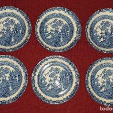 Antigüedades: 6 PLATOS DE CAFÉ - PORCELANA MEDIADOS SIGLO XX. Lote 189152631