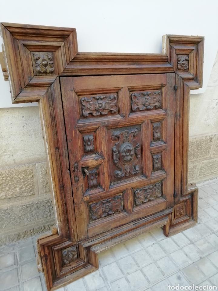 Antigüedades: EXTRAORDINARIA PUERTA DE ALACENA BARROCA - Foto 2 - 189160540