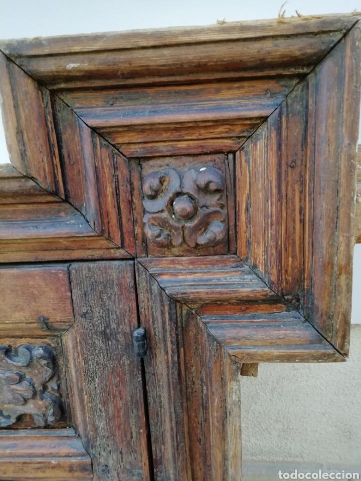 Antigüedades: EXTRAORDINARIA PUERTA DE ALACENA BARROCA - Foto 4 - 189160540