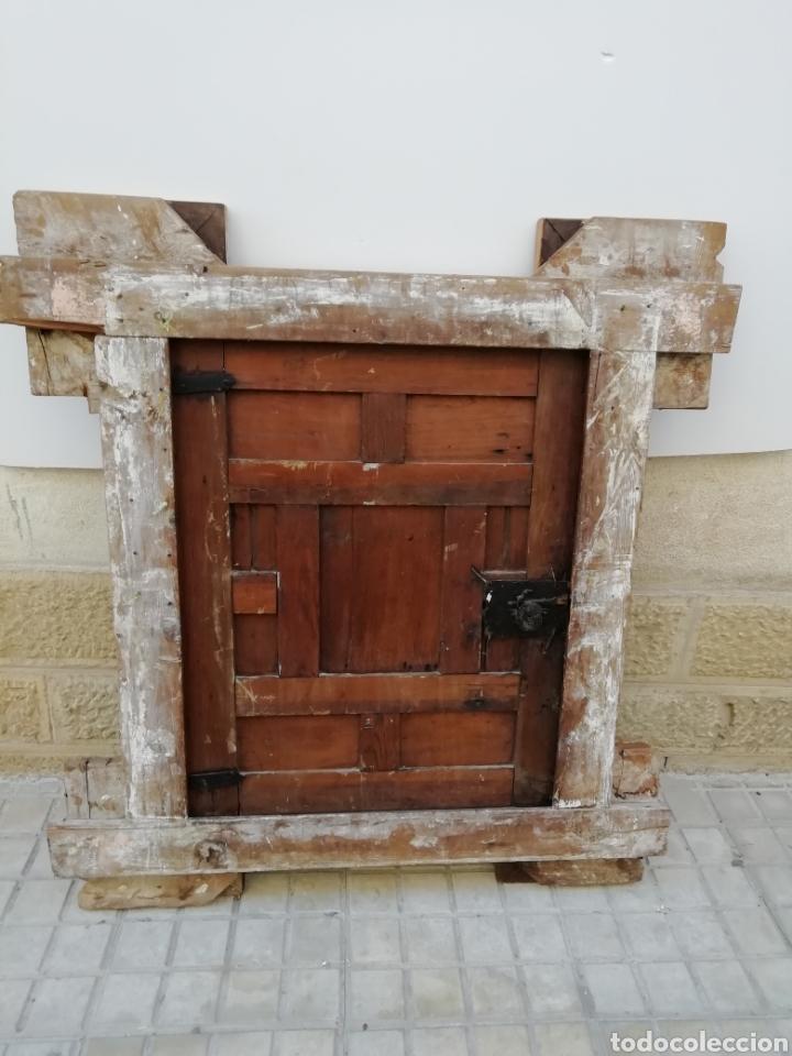Antigüedades: EXTRAORDINARIA PUERTA DE ALACENA BARROCA - Foto 8 - 189160540