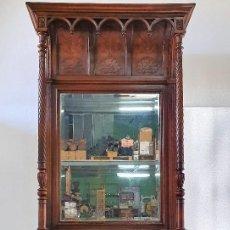 Antigüedades: APARADOR TRINCHERO CON ESPEJO. Lote 189194210