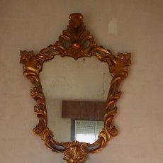 Antigüedades: ANTIGUO ESPEJO CORNUCOPIA Y CONSOLA. Lote 189198245