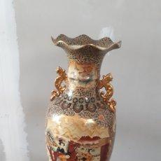 Antigüedades: GRAN JARRÓN SATSUMI CON PEANA LEER DESCRIPCIÓN SÓLO ENVIÓ MURCIA ALICANTE Y ALBACETE. Lote 189205165