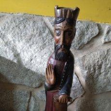 Antigüedades: SANTO DE MADERA POLICROMADO. Lote 189206527