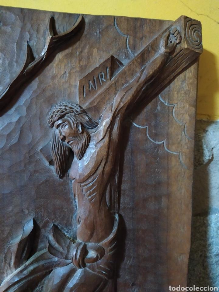 Antigüedades: Talla madera cristo en la cruz - Foto 2 - 189209000
