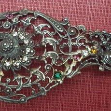 Antigüedades: ANTIGUO BROCHE PLATA ANTIGUA. Lote 189223812