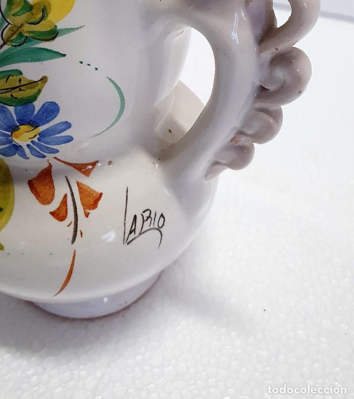 Antigüedades: ANTIGUA PAREJA DE JARRONES ISABELINOS FIRMADOS LARIOS - Foto 3 - 189236483