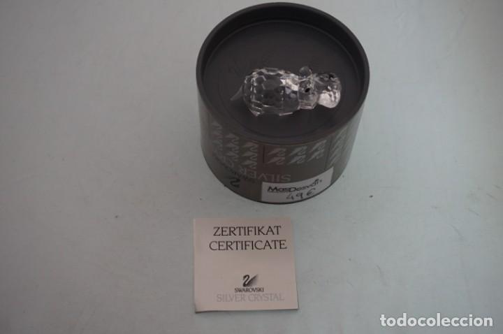 Antigüedades: figura Swaroski nueva, recuperada joyeria cerrada en año 2000. HIPOPOTAMO: 7626 - Foto 4 - 189252390
