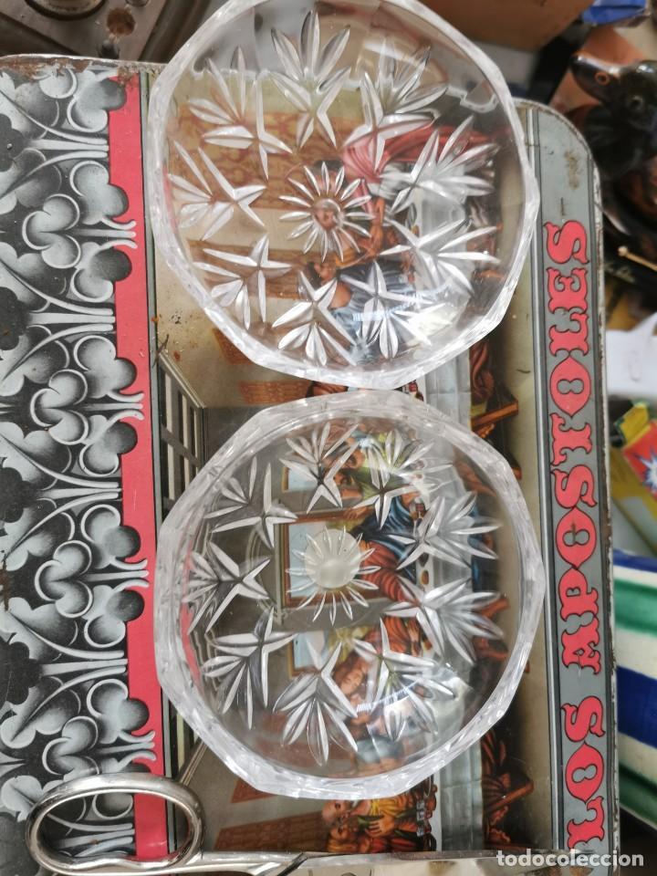 Antigüedades: Jollero o bombonera antigua cristal tallado italiano - Foto 2 - 189271288