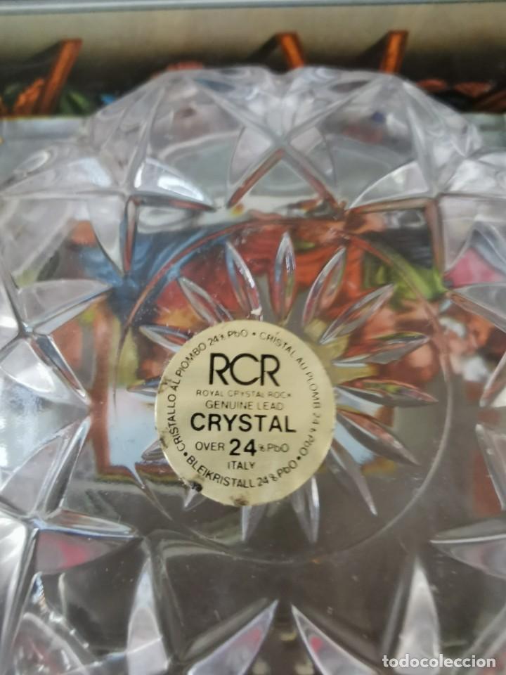 Antigüedades: Jollero o bombonera antigua cristal tallado italiano - Foto 3 - 189271288