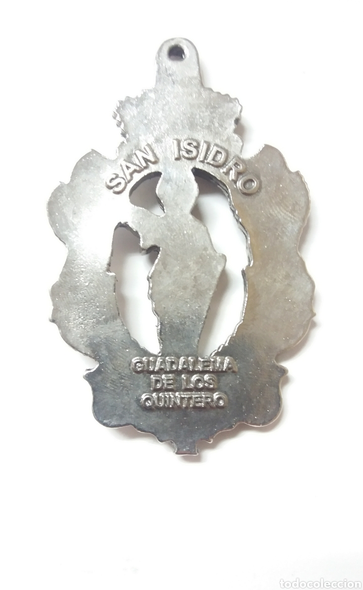 Antigüedades: MEDALLA SAN ISIDRO GUADALEMA DE LOS QUINTERO, UTRERA SEVILLA - Foto 2 - 189273606