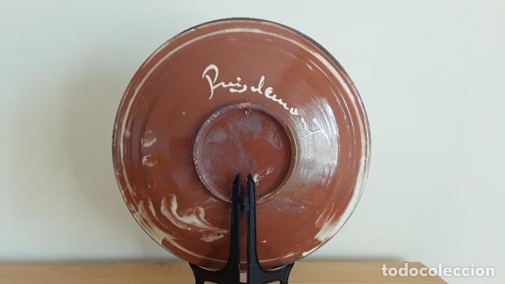 Antigüedades: Gran plato cerámica La Bisbal, Puigdemont - Foto 6 - 189302027