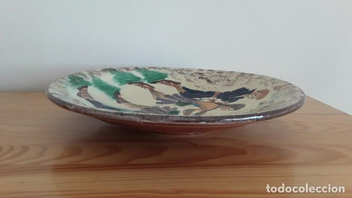 Antigüedades: Gran plato cerámica La Bisbal, Puigdemont - Foto 8 - 189302027
