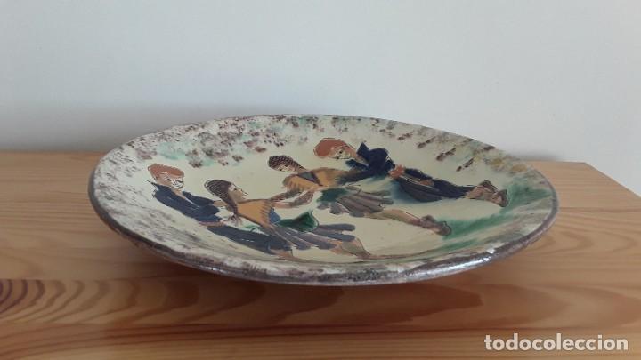 Antigüedades: Gran plato cerámica La Bisbal, Puigdemont - Foto 9 - 189302027
