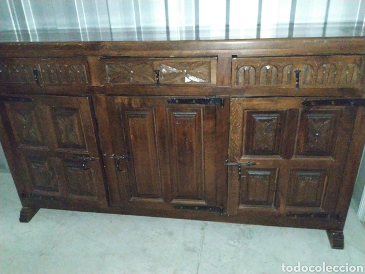 ARCA APARADOR MADERA ROBLE ARTESANAL HECHO A MANO (Antigüedades - Muebles Antiguos - Aparadores Antiguos)