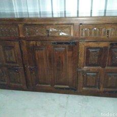 Antigüedades: ARCA APARADOR MADERA ROBLE ARTESANAL HECHO A MANO. Lote 189305017
