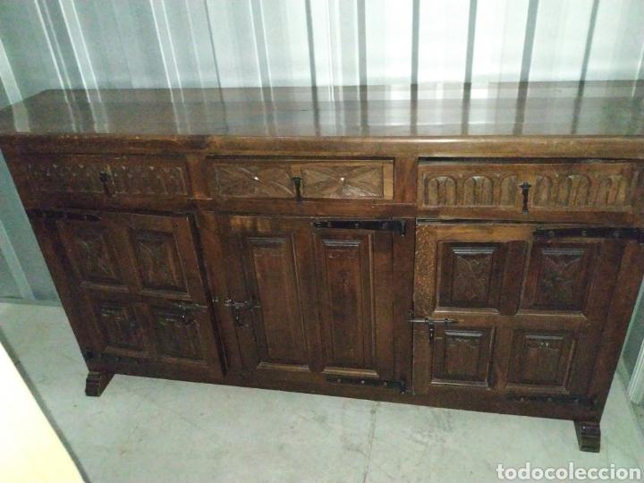 Antigüedades: Arca aparador madera roble artesanal hecho a mano - Foto 2 - 189305017
