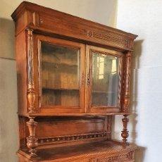 Antigüedades: ANTIGUA VITRINA TALLADA. Lote 189309258