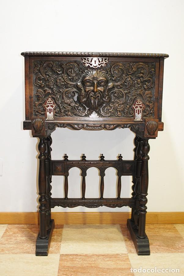 BARGUEÑO ANTIGUO ESTILO RENACIMIENTO ESPAÑOL (Antigüedades - Muebles Antiguos - Bargueños Antiguos)