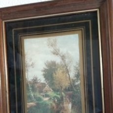 Antigüedades: CUADRO PAISAJE ANTIGUO. Lote 189374981