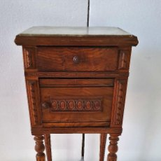 Antigüedades: ANTIGUA MESILLA ALFONSINA DE ROBLE. Lote 189385983