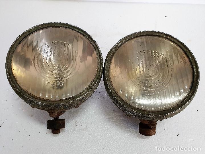 ANTIGUA PAREJA DE FOCOS (Antigüedades - Iluminación - Otros)