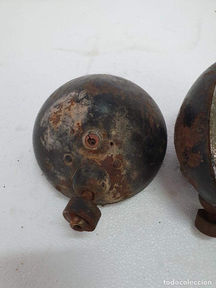 Antigüedades: ANTIGUA PAREJA DE FOCOS - Foto 3 - 189386382