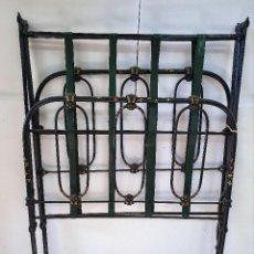Antigüedades: ANTIGUA CAMA PLEGABLE DE HIERRO DECORADA. Lote 189386451