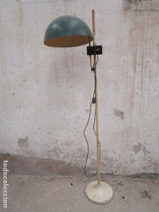 ORIGINAL LAMPARA DE PIE CONSULTA MEDICO BAHUAUS AÑOS 20 CABLE NUEVO (Antigüedades - Iluminación - Lámparas Antiguas)