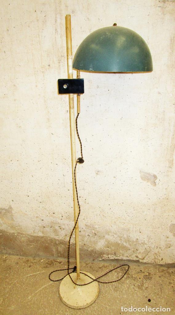 Antigüedades: ORIGINAL LAMPARA DE PIE CONSULTA MEDICO BAHUAUS AÑOS 20 CABLE NUEVO - Foto 4 - 189387587